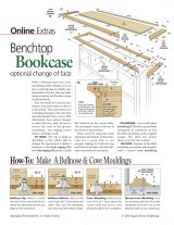 Bench Top Bookcase Plans